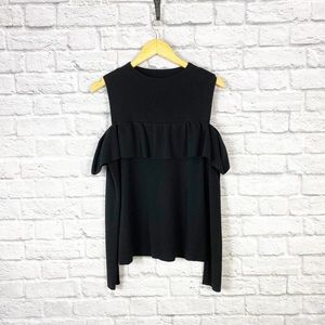 Witchery Cold Shoulder Ruffle pullover Sweater